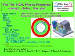 The Tile-HCAL Physics Prototype; concept, status, time plan