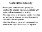 Geographic Ecology