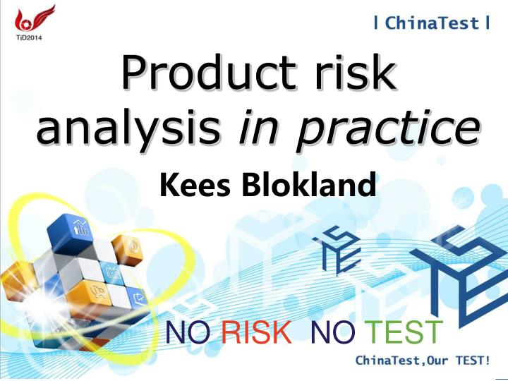 product risk analysis in practice n.