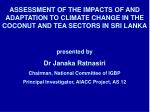 Coconut Research Institute Tea Research Institute Meteorology Department