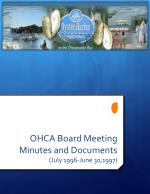 OHCA Board Meeting Minutes and Documents (July 1996-June 30,1997)
