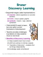 Bruner Discovery Learning
