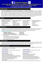 Call For Papers 2005 JSASS-KSAS Joint International Symposium on Aerospace Engineering