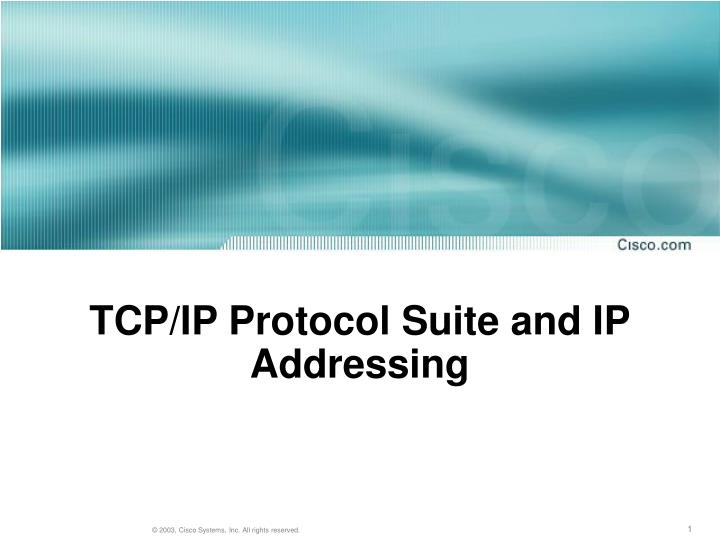 tcp ip protocol suite and ip addressing n.