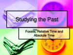 Studying the Past