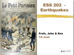 ESS 202 - Earthquakes