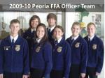 2009-10 Peoria FFA Officer Team