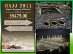 2010: 3 million pilgrims participated in the hajj