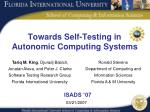 Towards Self-Testing in  Autonomic Computing Systems