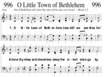1. O lit - tle town of Beth - le - hem, how still we see thee lie!