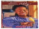 Happy Birthday,Addy! Book review