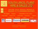 SOUTH LINCS. PLANT HIRE & SALES LTD