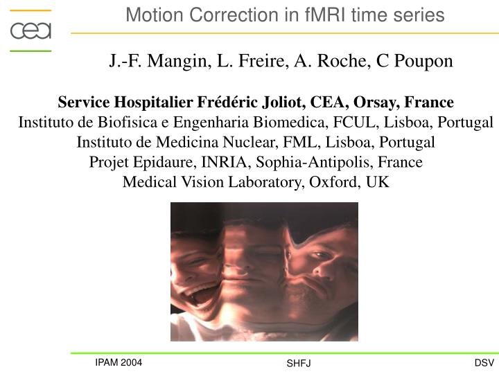 motion correction in fmri time series n.