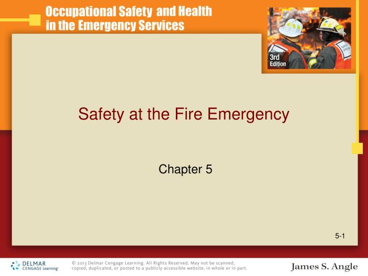 safety at the fire emergency n.