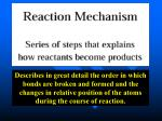 Understanding reaction mechanisms (an analogy)
