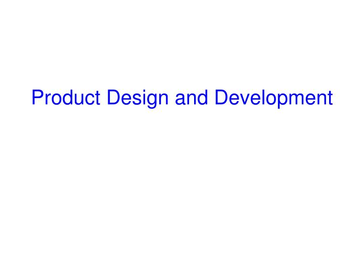 product design and development n.