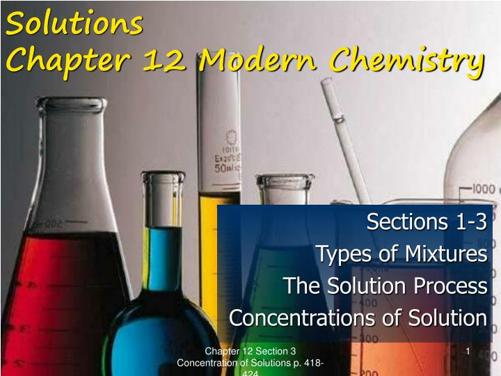 solutions chapter 12 modern chemistry n.