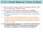 5.7/5.1 Kinetic Molecular Theory of Gases