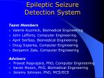 Epileptic Seizure Detection System