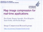 Map image compression for real-time applications