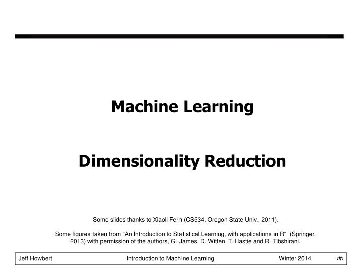 machine learning dimensionality reduction n.