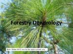 Forestry Dendrology