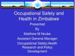 Occupational Safety and Health in Zimbabwe