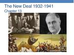The New Deal 1932-1941 Chapter 13