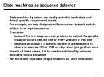 State machines as sequence detector