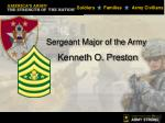 Sergeant Major of the Army  Kenneth O. Preston