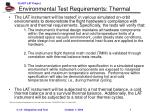 Environmental Test Requirements: Thermal