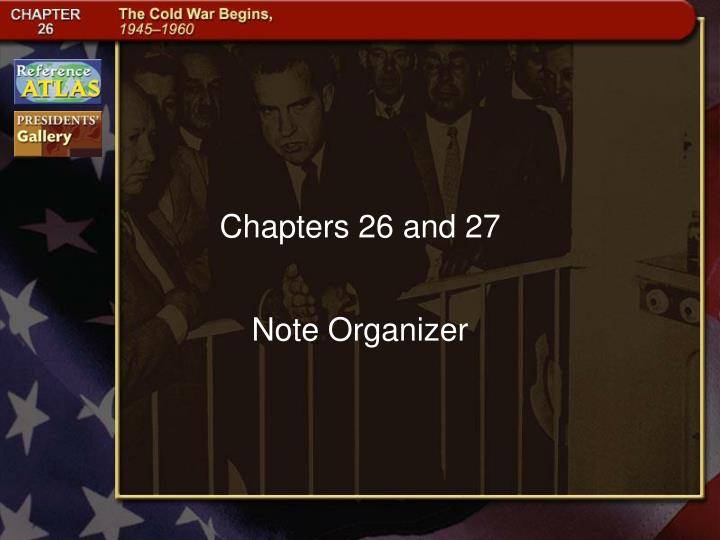 chapters 26 and 27 n.
