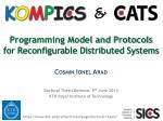 Programming Model and Protocols for Reconfigurable Distributed Systems