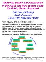 One day workshop Central London Thurs 14th November 2013