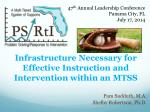Infrastructure Necessary for Effective Instruction and Intervention within an MTSS