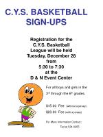 C.Y.S. BASKETBALL SIGN-UPS