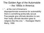 The Golden Age of the Automobile – the 1950s in America