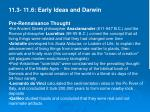 11.3- 11.6: Early Ideas and Darwin Pre-Rennaisance Thought