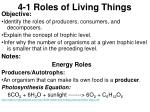 4-1 Roles of Living Things