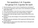 For questions 1-4: 3 quotes For group 5-6: 2 quotes for each