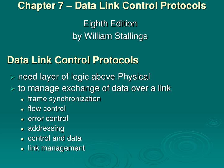 chapter 7 data link control protocols n.