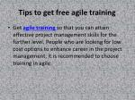 Tips to get free agile training at your convenience