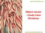Object Lesson - Candy Cane Christmas