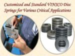 Standard VINSCO Disc Springs for Various Applications