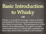 Basic Introduction to Whisky
