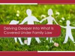 Delving Deeper Into What Is Covered Under Family Law