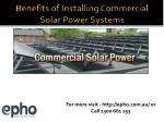 Avail benefits of Commercial Solar power systems