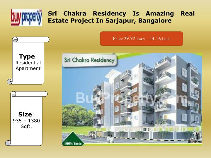 PPT - Sri Chakra Residency Real Estate Project In Bangalore