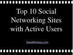 Top 10 Social Networking Sites by Active Users - StatsMonkey