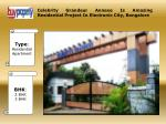 Celebrity Grandeur Annexe Residential Project In Bangalore